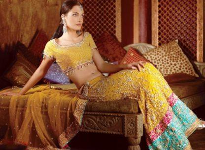 Yellow Indian Style Lehnga