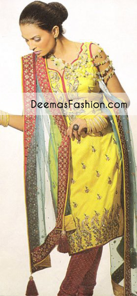yellow-maroon-bridal-mehndi-wear-kameez-churidar1